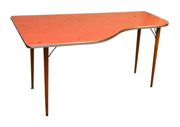 1950s Desk with Red Formica Top
