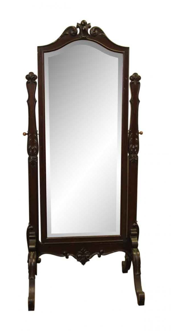 Early 20th Century Rosewood Cheval Mirror