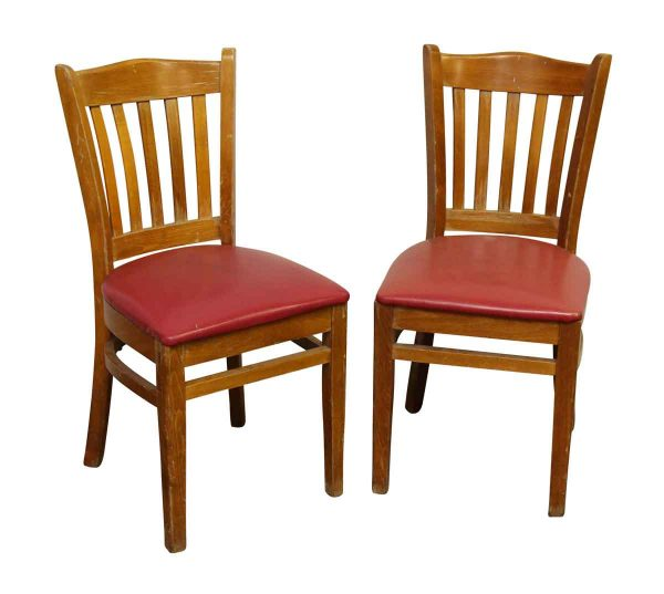 Pair of Chairs with Red Seat