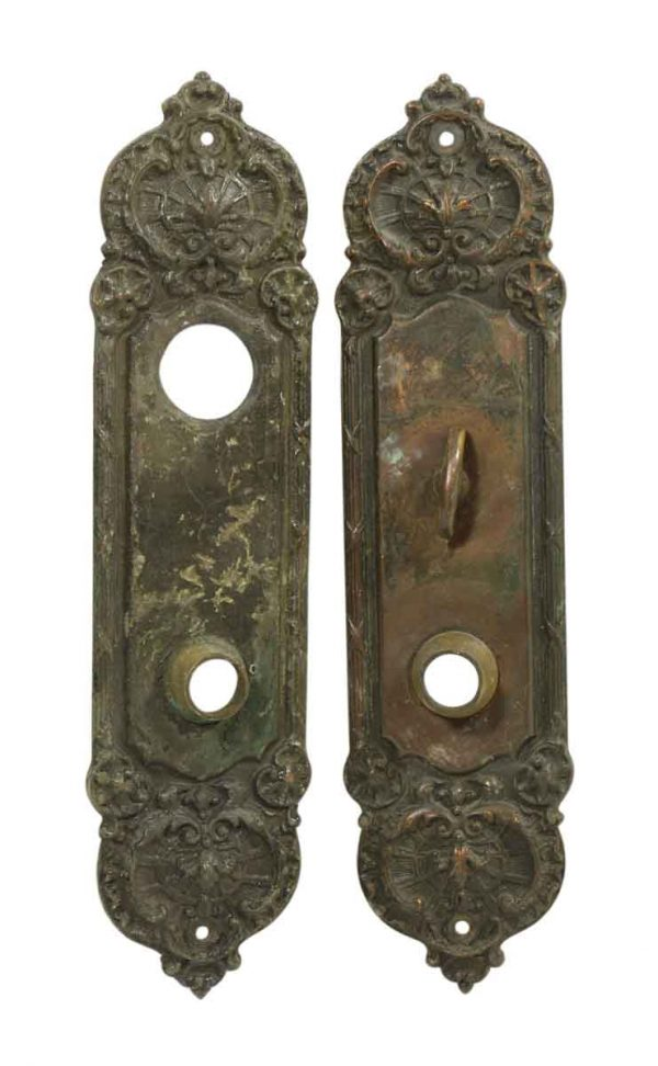 Pair of Bronze Entry Backplates