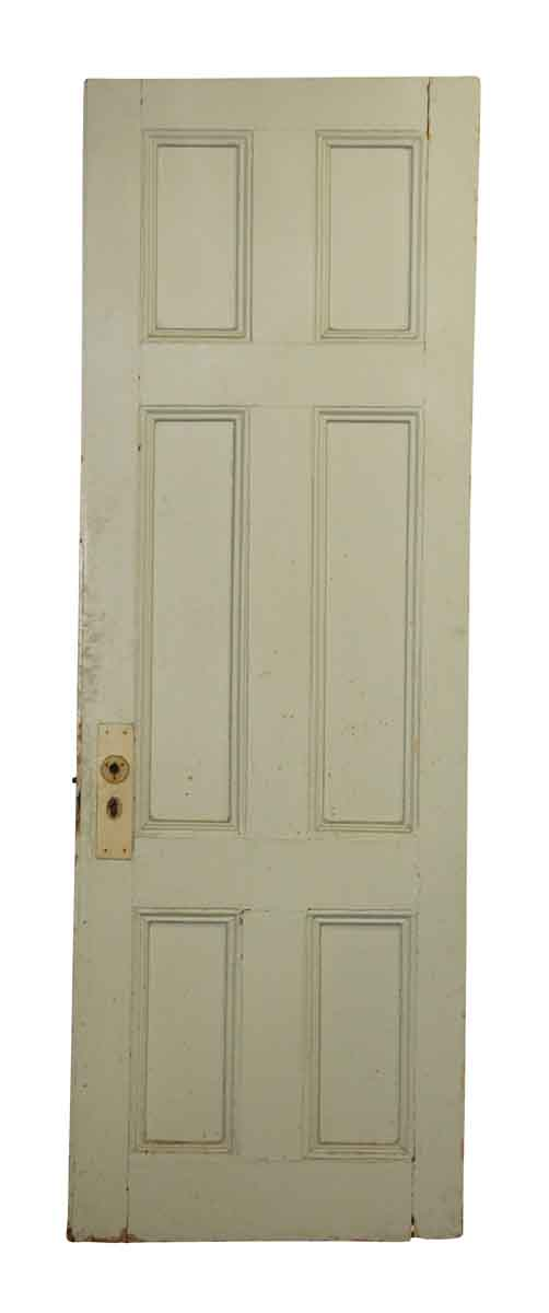 Blue Door with Six Panel Wooden Door