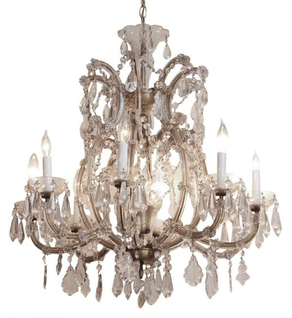 Marie Therese Eight Arm Bohemian Crystal Chandelier