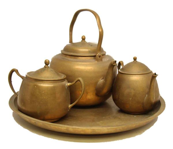 Vintage Brass Tea Set