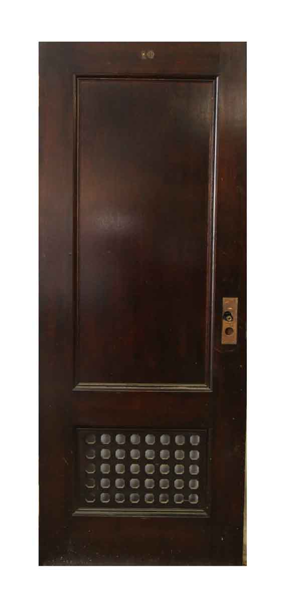 Closet Doors with Single Panel & Wooden Grill