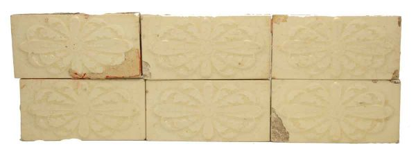 Set of Cream Floral Tiles