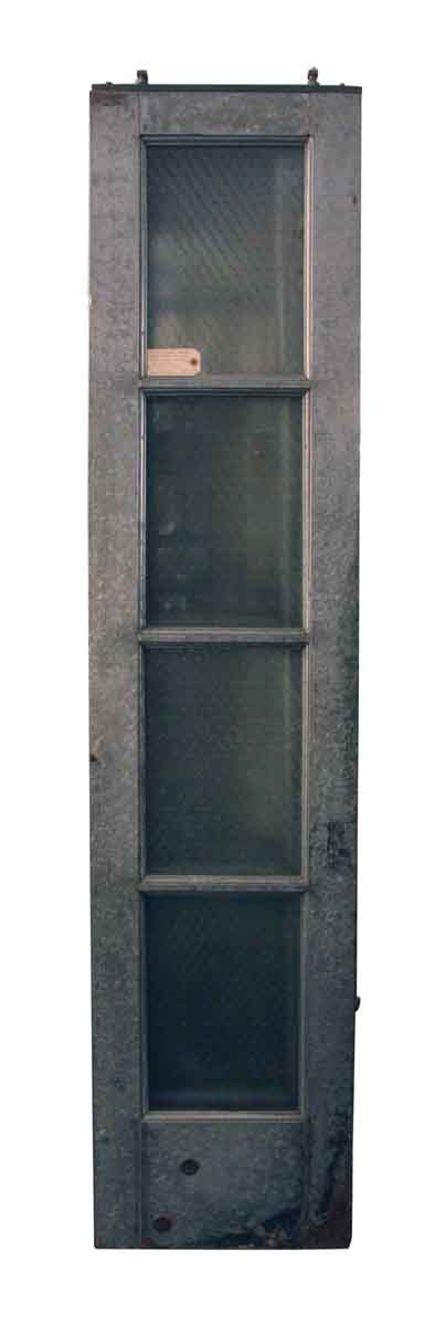 Set of Galvanized Steel Doors with Chicken Wire Glass Insets