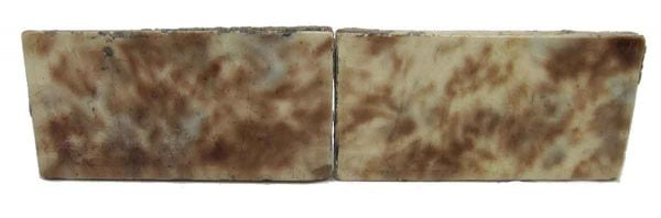 Set of Two Brown & Blue Mixed Tiles