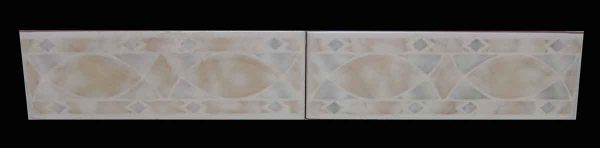 Set of Two Colorful Clay Tiles