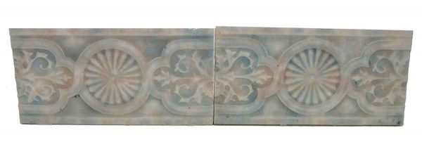 Set of Two Decorative Colorful Tiles