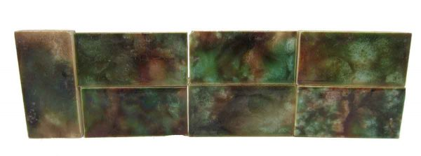 Set of Seven Colorful Tiles