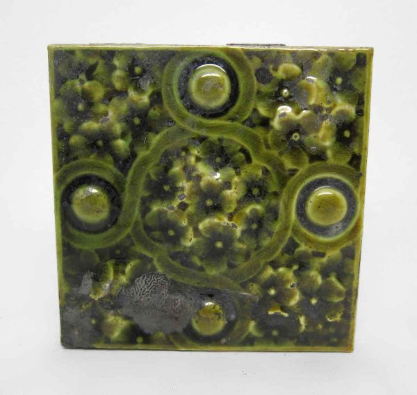 Set of Green Decorative Tiles