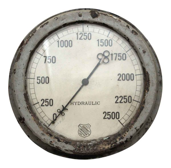 Large Antique Hydraulic Gage