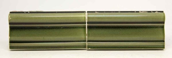 Set of Four Green Curved Tiles