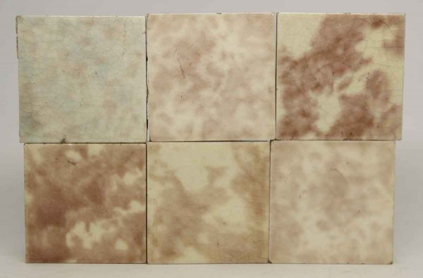 Set of Square Crackled Multicolor Tiles