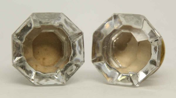 Pair of Glass Faceted Knobs