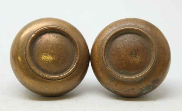Pair of Brass Concentric Knobs