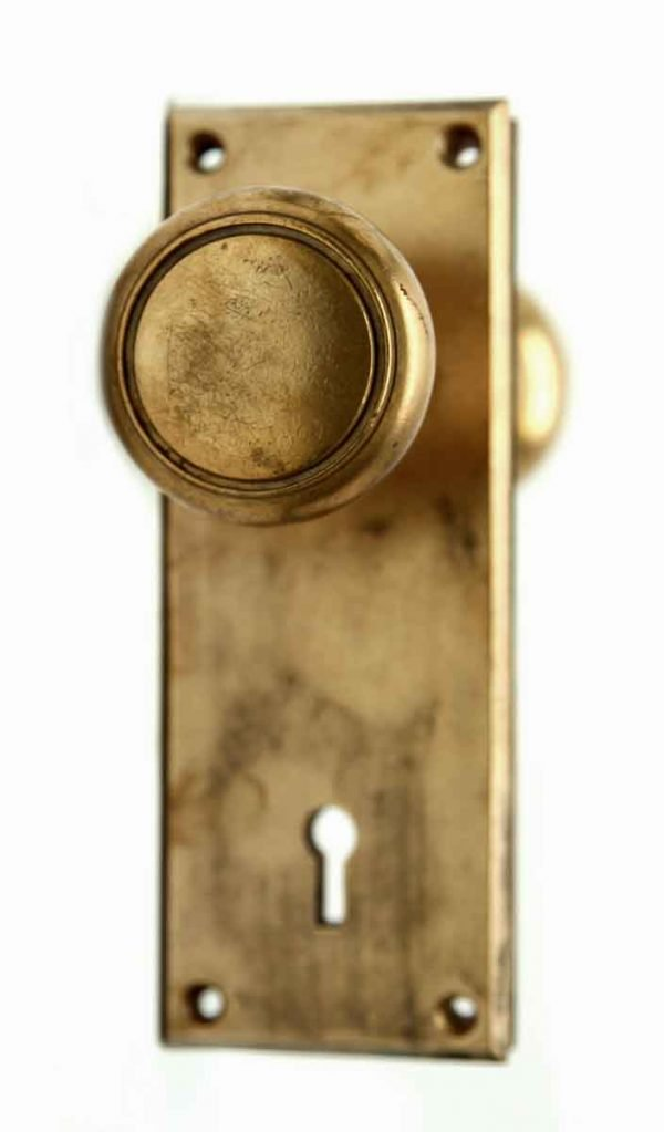 Brass Round Set of Knobs with Concentric