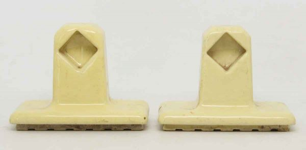 Pair of Yellow Ceramic Porcelain Towel Brackets