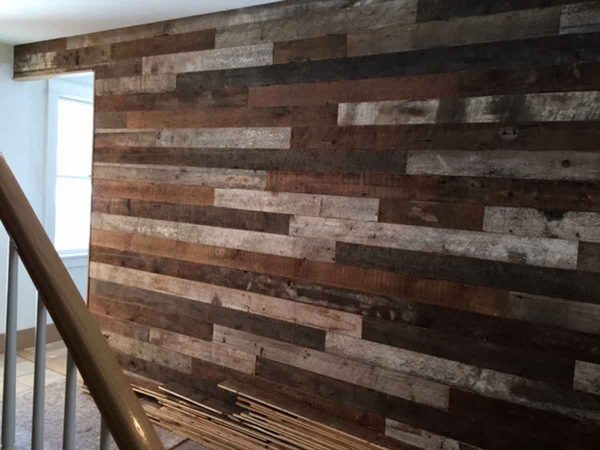 Rustic Reclaimed White Pine Skin Wall Covering