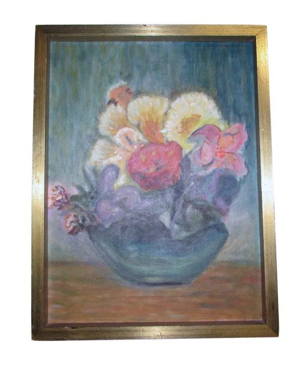 Floral Bowl Oil Painting