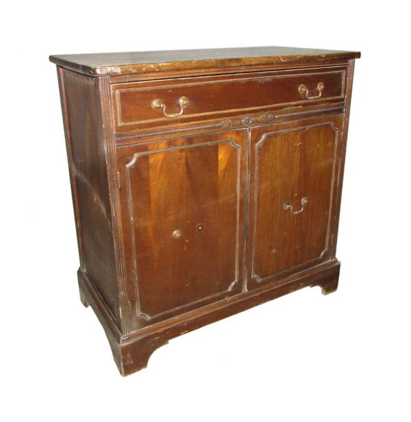 Mahogany Chest with Beaded Trim