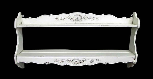 White Wooden Wall Plate Rack