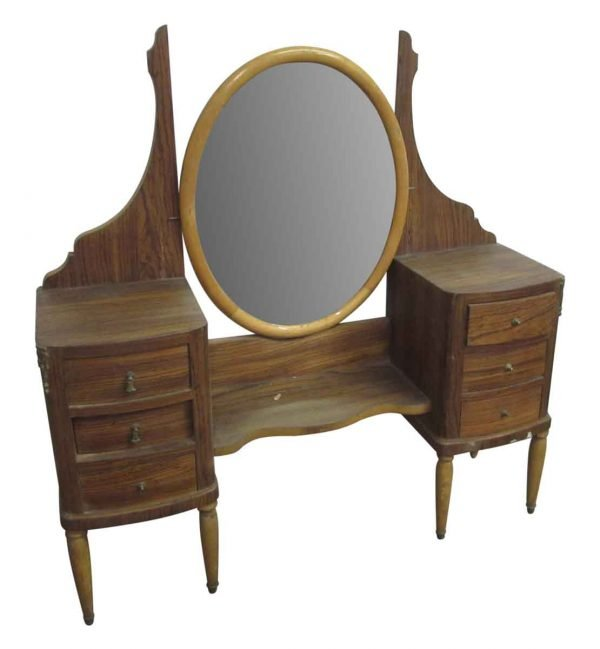 Vanity with Oval Mirror