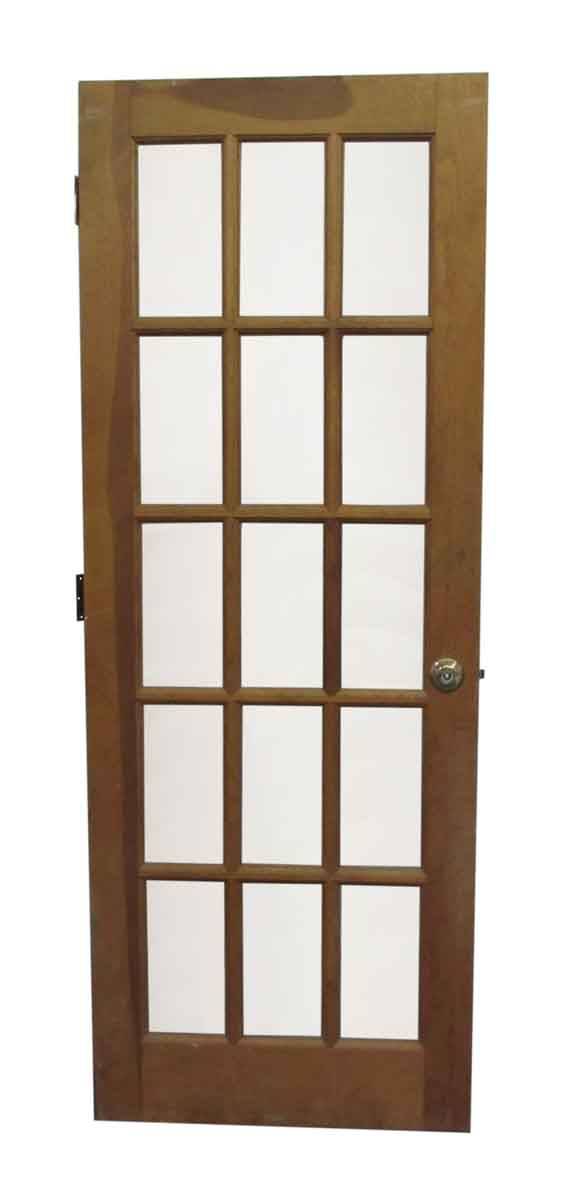 15 Lite French Natural Stain Door