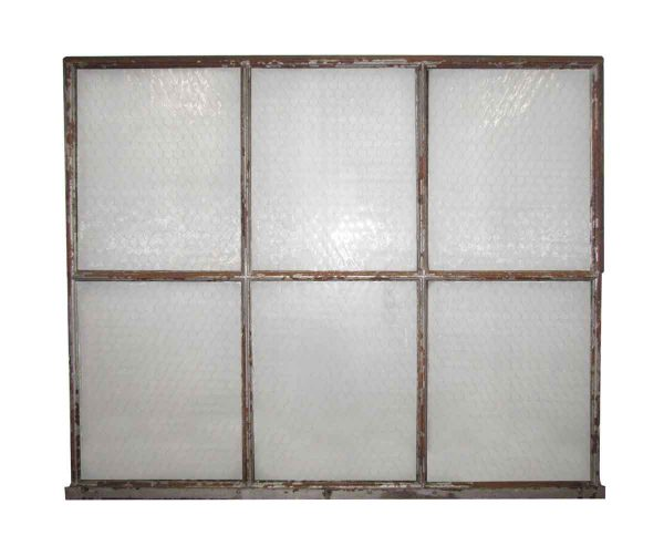 Chicken Wire Glass Double Glass Window