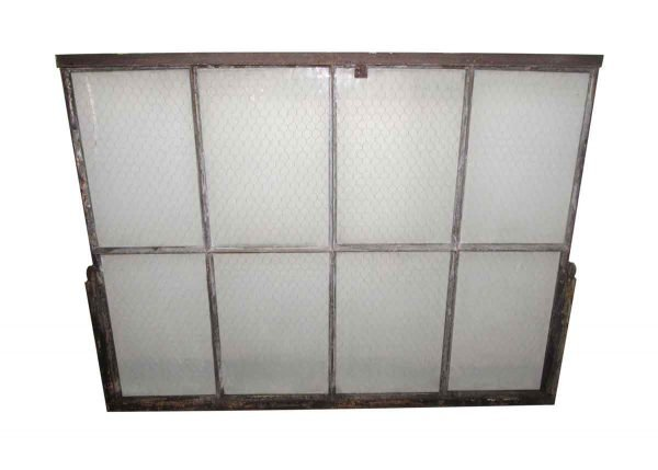 Chicken Wire Glass Double Glass Metal Window