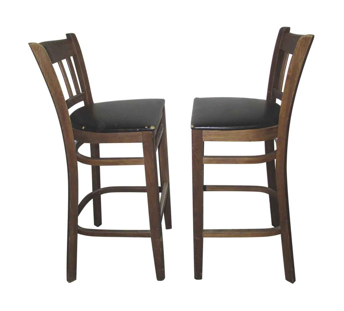 Wonderful image of Wooden Bar Stools with Slatted Backs Olde Good Things with #785F48 color and 1200x1084 pixels