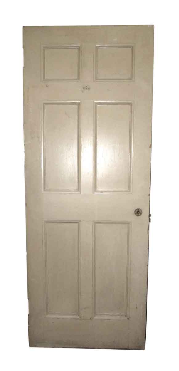 Wooden Entry Door with Six Panels
