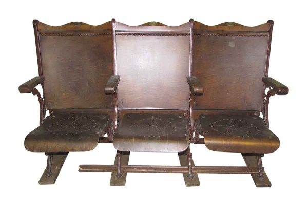 Folding Wooden Chairs from 19th Century Church Loft