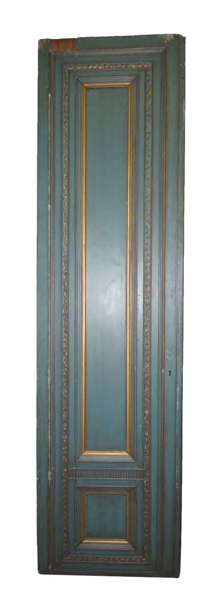 French Provincial Blue & Gold Tall Door