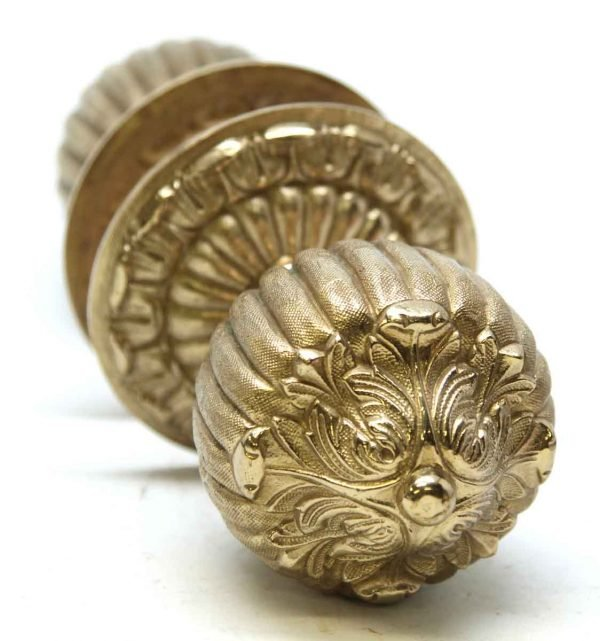 Pair of Large Highly Ornate Knobs
