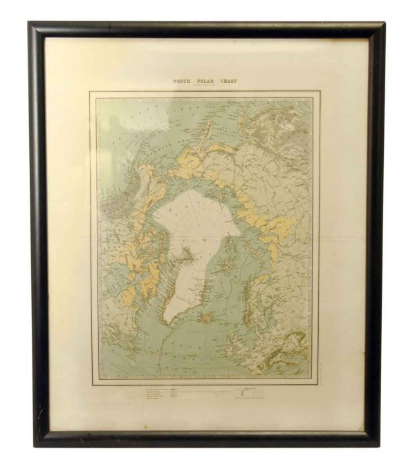 Framed North Polar Chart