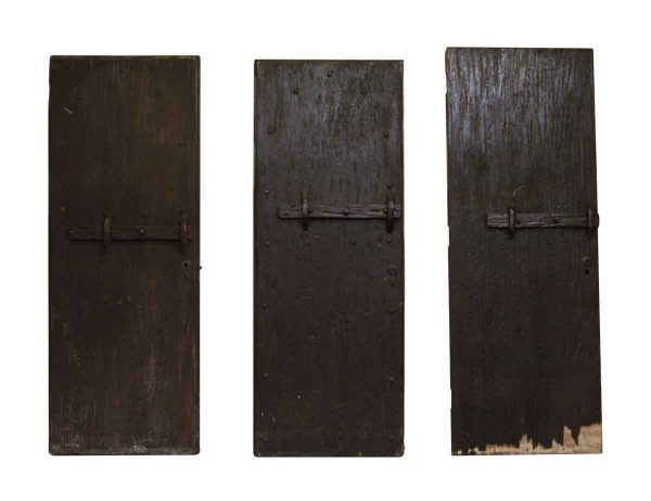 Rustic Pine Doors with Bar Latches