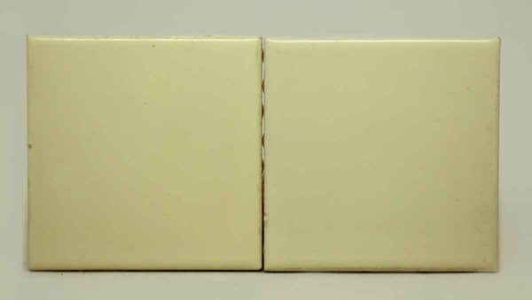 Pair of Pale Yellow Tiles