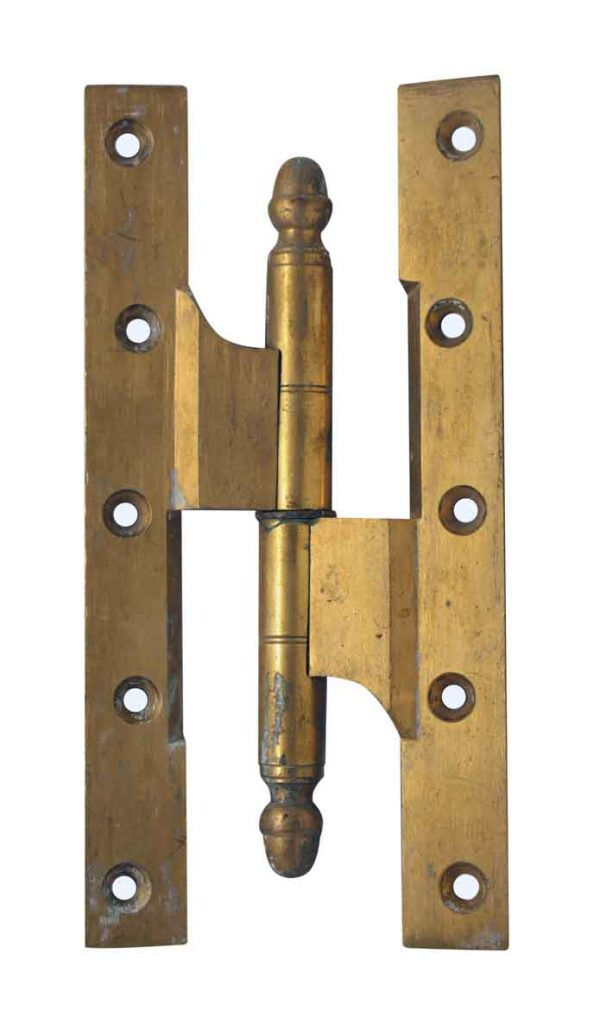 Pair of Large Brass Olive Hinges