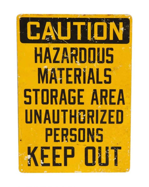 Authentic Hazardous Sign