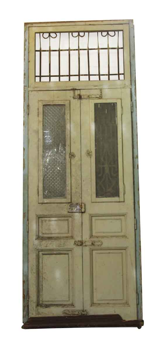 Tall Double Entry Doors with Transom