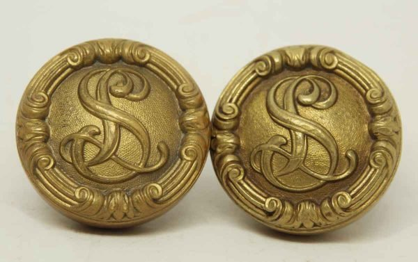 Pair of Collectors Quality Emblematic S Knobs