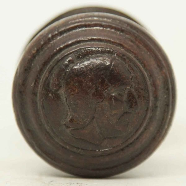 Figural Collectors Wooden Knob with Rosette