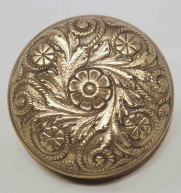 Decorative Ornate Collectors Quality Cast Brass Knob