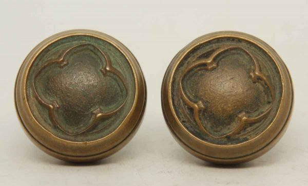 Pair of Gothic Collectors Quality Bronze Knobs