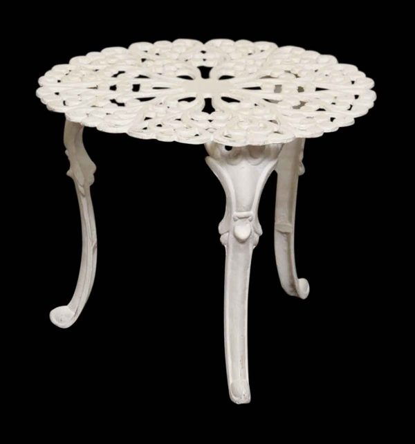 Small White Garden Iron Table
