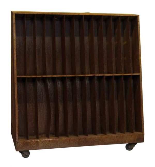 Industrial Rolling Cart with Storage Shelves