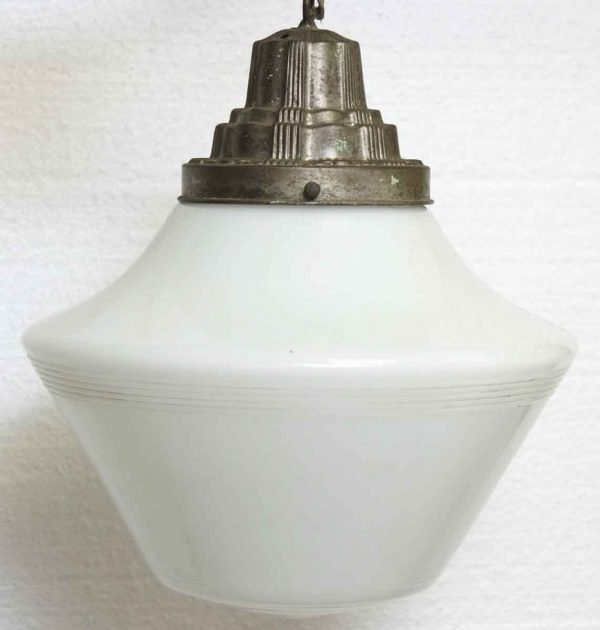 Milk Glass Globe with Deco Fitter
