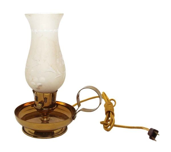 Frosted Glass Antique Style Candle Lamp