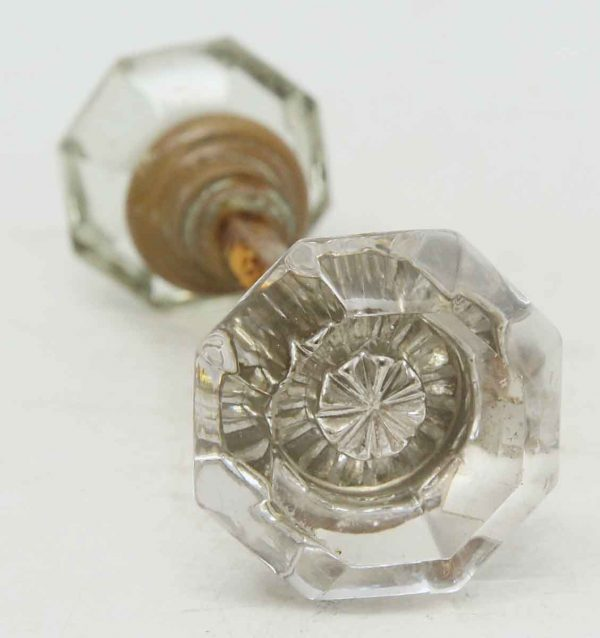 Sets of Glass Knobs with Center Star Bullet